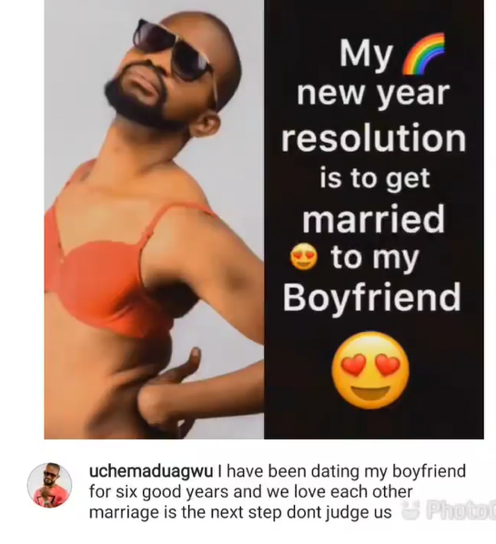 Uche Maduagwu hopes to get married to his boyfriend of six years »  ENTERTAINMENT