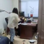 Video: Woman beats up her boss for sending her inappropriate sexual texts