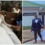 Video: UniAbuja student storms examination hall in her wedding dress