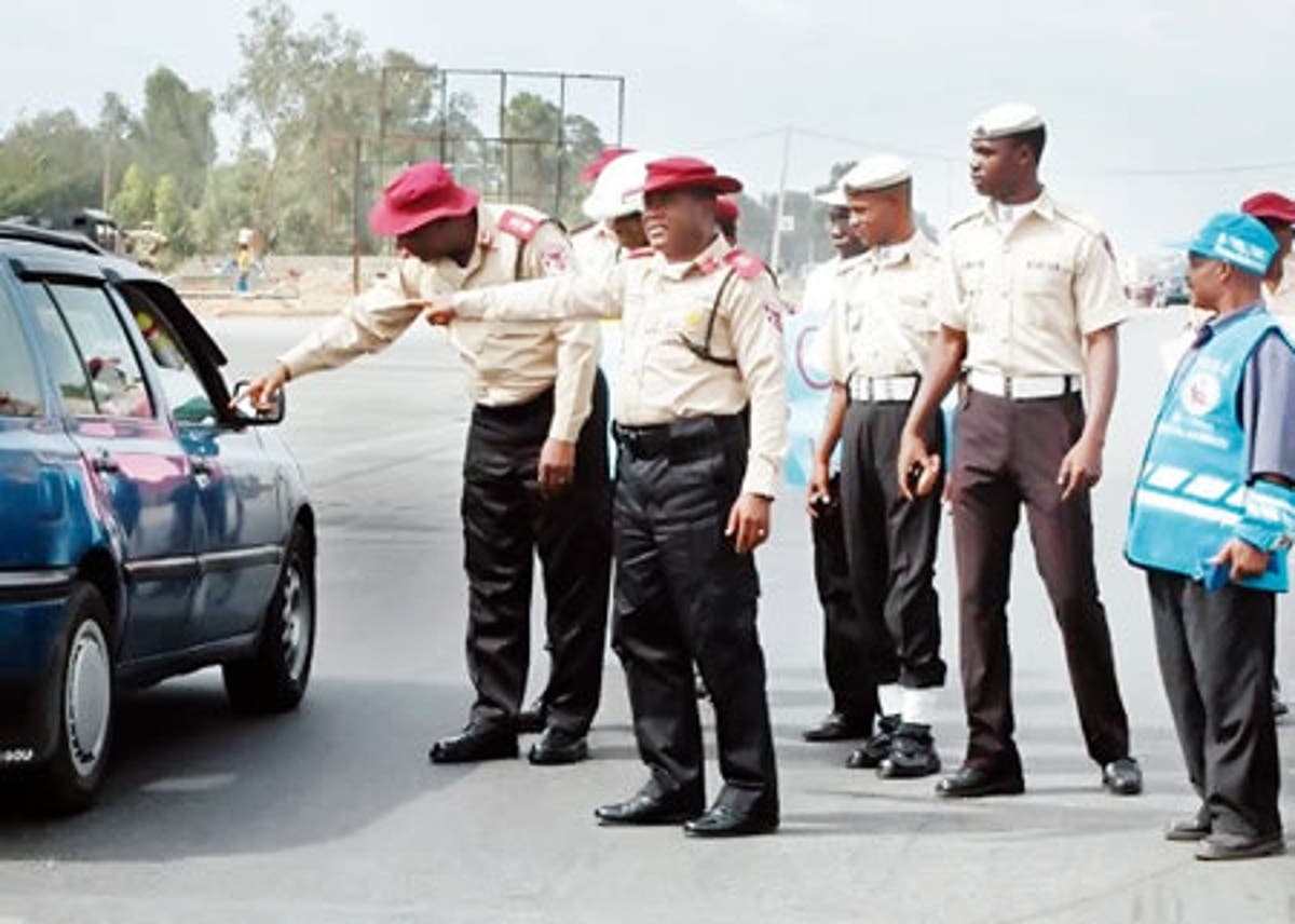 FRSC inspecting vehicles on expressway