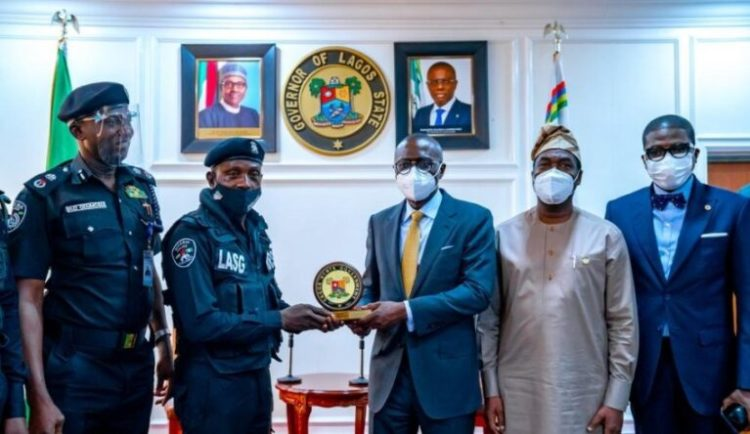 Gov Sanwo-Olu honours Policeman assaulted by traffic offender (PHOTOS) » NEWS