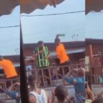 Viral video: Lagos police hunt traffic offender who broke bottle on cop's head
