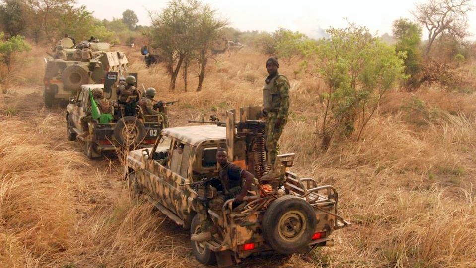 Nigerian troops fighting insurgency in North-East