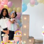 PHOTOS: Super Eagles midfielder, Wilfred Ndidi and wife celebrate daughter on her 1st birthday