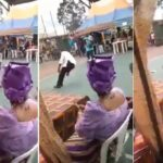 Video: Community leader slumps, dies while dancing at Rivers wedding