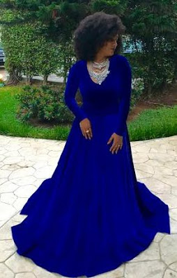 juliet ibrahim's new blue dress