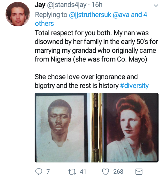 """My grandma was disowned for marrying my granddad who came from Nigeria"": British man reveals"