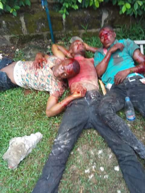 Photos: Four suspected armed robbers impersonating SARS operatives shot dead in Rivers State