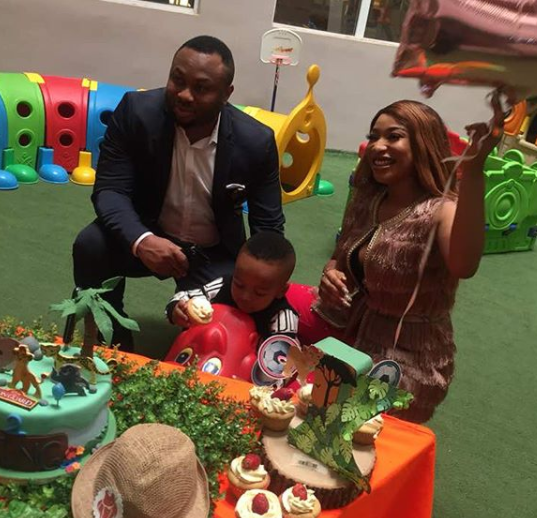 More photos of Tonto Dikeh and Churchill Olakunle at their son, King