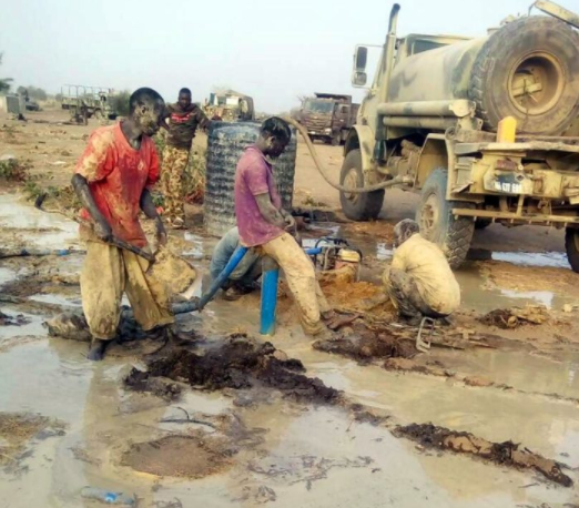 Photos: Nigerian troops sink borehole in Sambisa Forest to confirm the eviction of Boko Haram terrorists