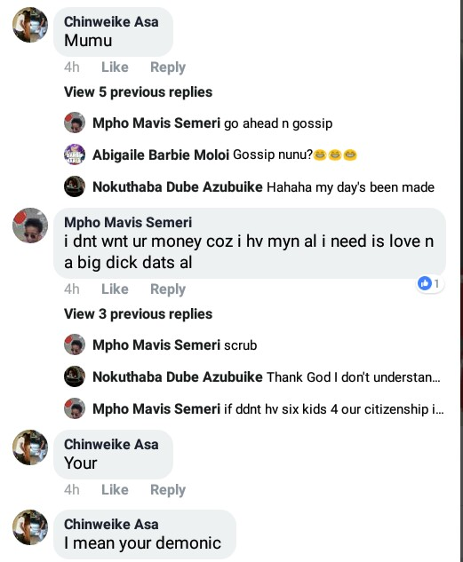 """""""Ladies, I am not here to take your men I want my own"""" - South African lady looking for a hot Nigerian boyfriend with big d**k, responds to bashing"""