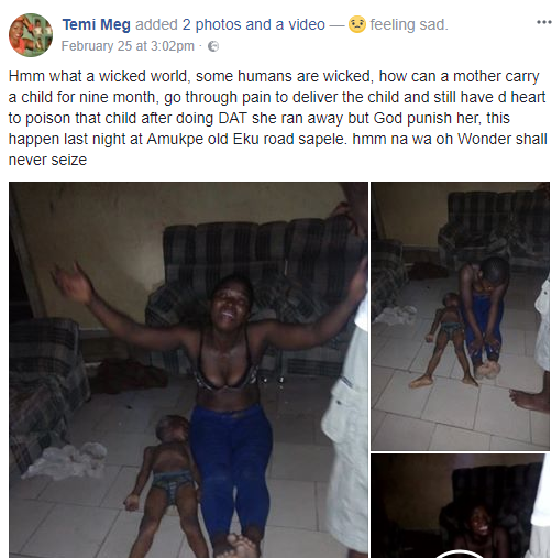 Photos: Nigerians drag Facebook user who accused a woman of killing her own child in Delta State