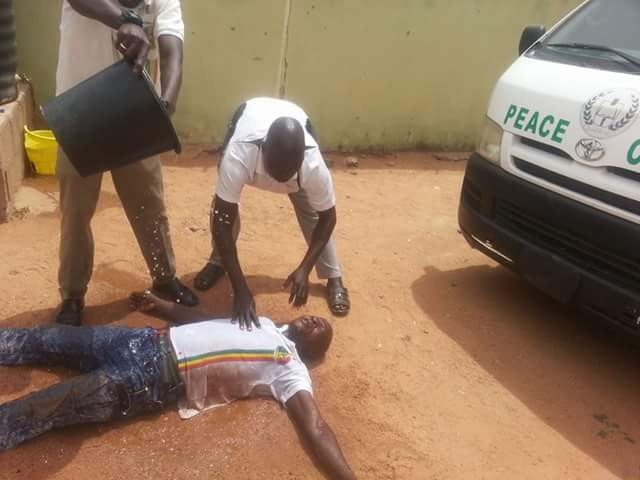 Video: Peace Corps Nigeria officer allegedly faints upon hearing news of President Buhari