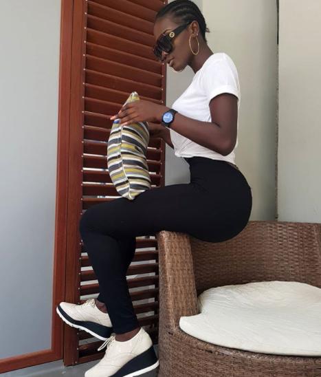 Meet Nigerian Lady, Precious, whose figure is turning guys
