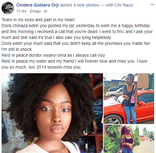 Beautiful Final year EBSU student dies in her sleep