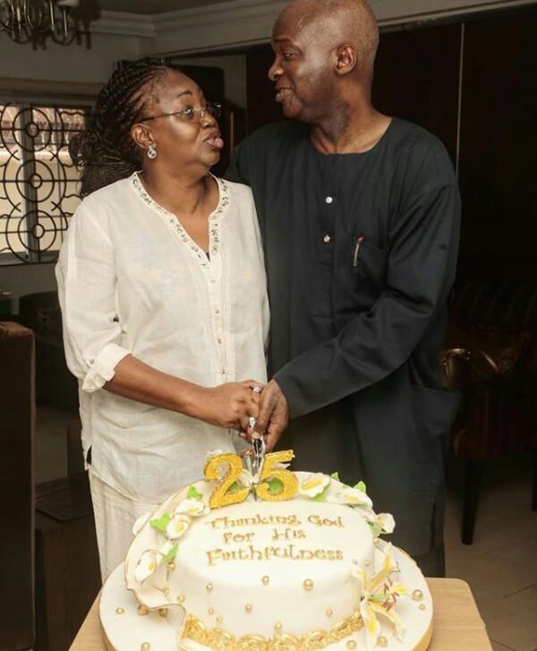 Babatunde Fashola and wife Abimbola celebrate 25th wedding anniversary