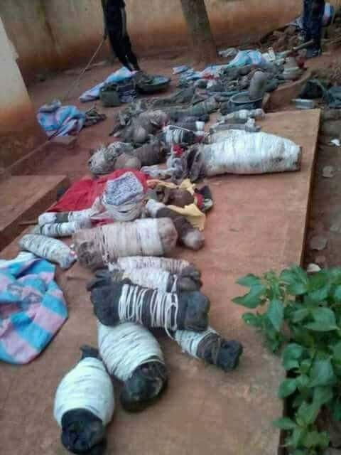 Shocking! Suspected ritualists apprehended with roasted babies in Uganda(photos)