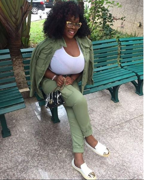 Check out the jaw-dropping boobs on Plus size-model Eva Kiss who recently wrapped up her NYSC programme (Photos)