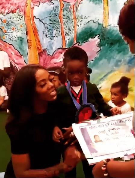 2140aa3f77a Here are videos from the graduation ceremony of Tiwa Savage s son below