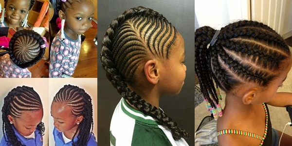 5 Beautiful Ghana Weaving Hairstyles For Kids