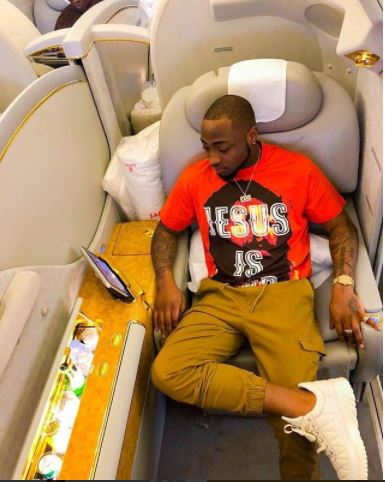 Davido replies Fan Who Asked About His Private Jet