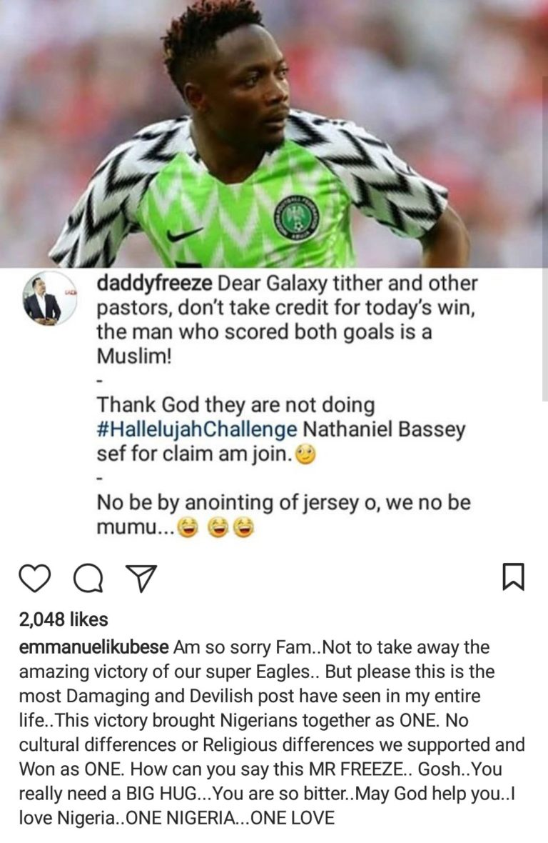 you-are-so-bitter-emmanuel-ikubese-blasts-daddy-freeze-over-post-on-ahmed-musa