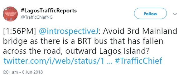Fatal accident on Third Mainland Bridge as BRT bus somersaults and cuts man who just got sacked into two