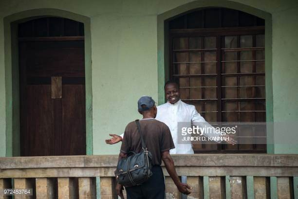Photos: Jubilation in Congo as Catholic priest infected with Ebola survives