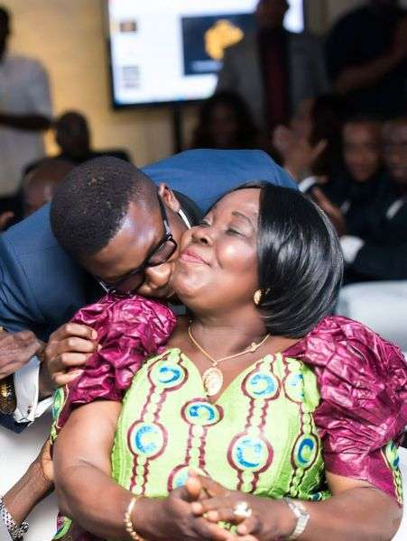 Ogundele and his mother