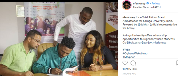 bbnaija-efe-becomes-african-ambassador-for-indian-university