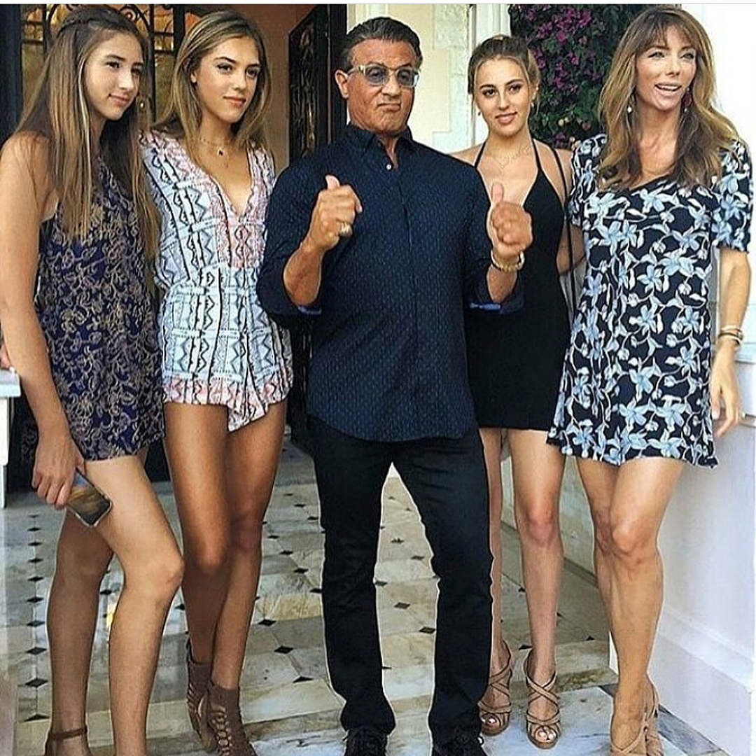 Sylvester Stallone Wife / Sylvester Stallone is joined by ...