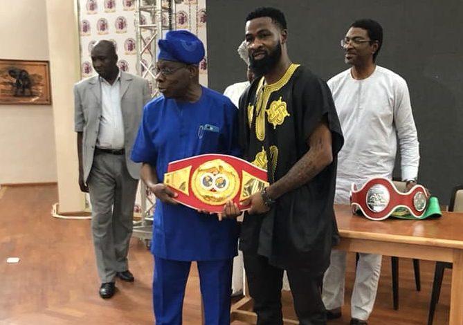 boxing-champion-larry-ekundayo-is-an-asset-to-nigeria-–-obasanjo