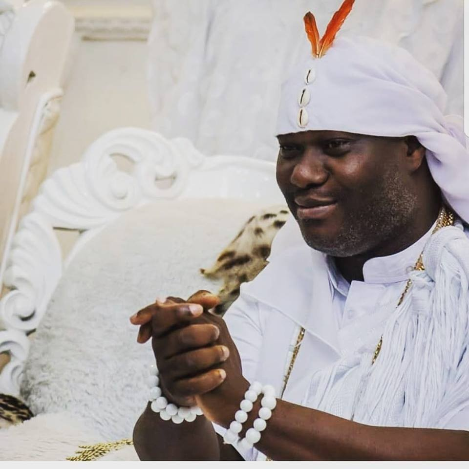 After going into seclusion for 7 days in Osun, Ooni of Ife, reveals himself (photos)