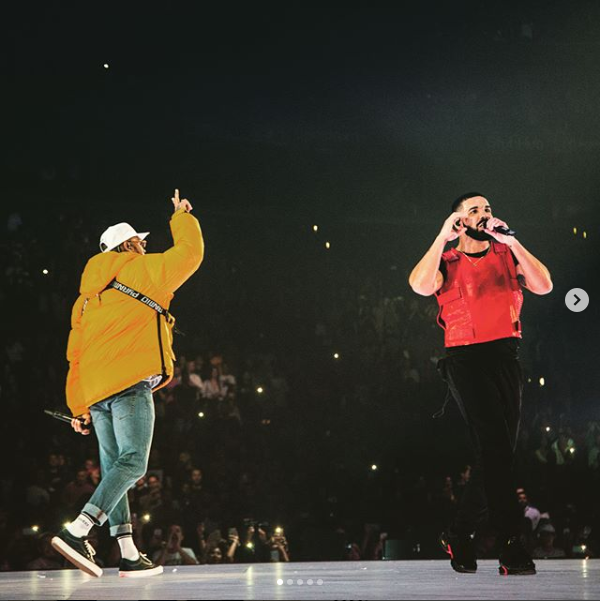 Drake officially ends his beef with Chris Brown, brings the singer on stage at his concert in LA (Photos)