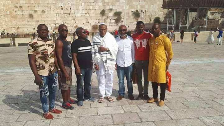 More photos of Nnamdi Kanu and his supporters in Jerusalem