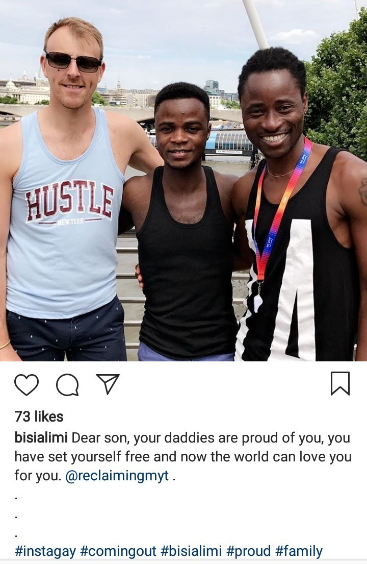 """Dear son, your daddies are proud of you"" - Bisi Alimi declares support for the Nigerian first black student president of Bournemouth Uni who just came out as gay"