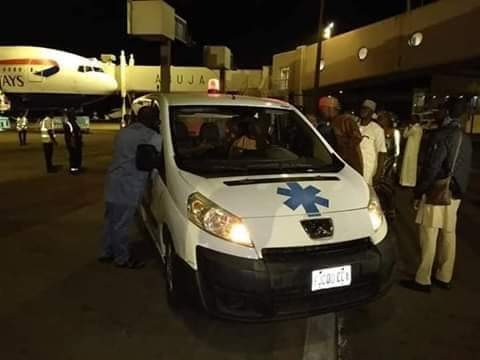 Photos: Remains of former CJN Idris Kutigi arrives Nigeria