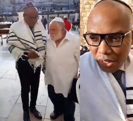 Photos: Nnamdi Kanu reappears in Jerusalem, says he is coming back to tear down the