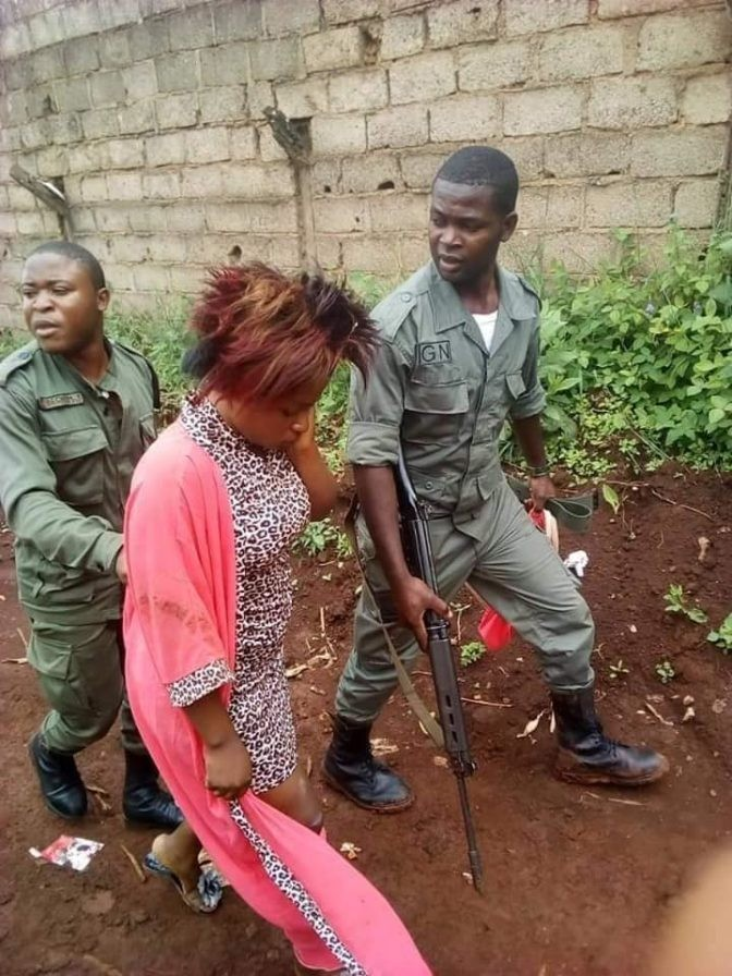 Slay queen arrested after stabbing her friend in the neck over a man (photos)