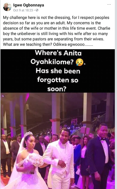 Nigerian pastor slammed for questioning the absence of Anita Oyakhilome at her daughter