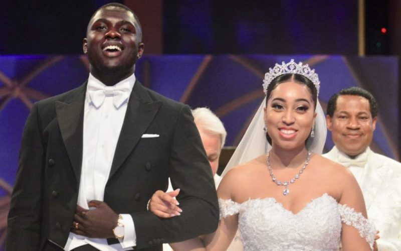 Pastor-Chris-Oyakhilome-daughter-Sharon-Oyakhilome-and-her-Ghanaian-fiance-tie-a-knot-in-a-white-wedding-ceremony.-e1539109501810