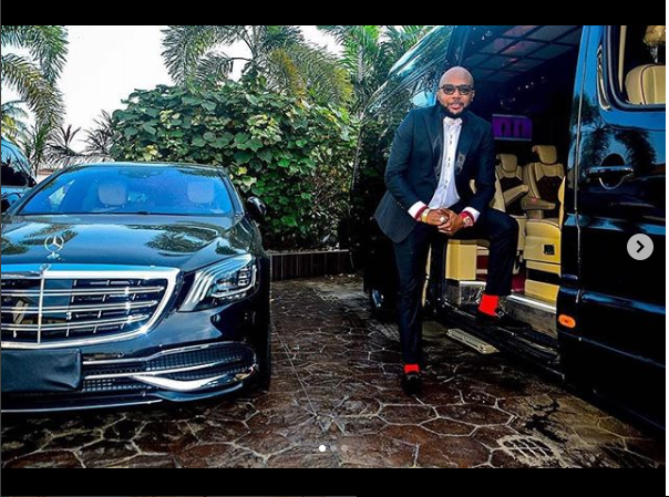?E-money shows off his car garage at his mansion (Photos)