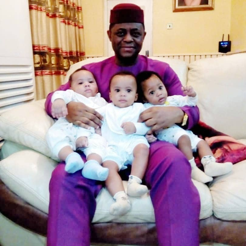 Lovely photos of Femi Fani-Kayode and his sons