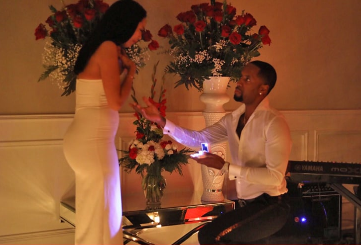 "Safaree proposed to Erica Mena on Christmas eve and she said ""Yes"" (videos)"