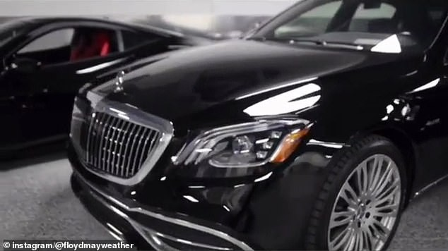 Floyd Mayweather shows off his expensive garage with luxury cars worth more than ?1.5MILLION (Photos/Video)