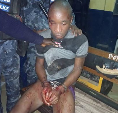 Photo: Ghanaian police recaptures Nigerian Kidnapper who broke out of jail
