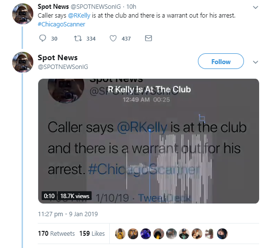 R. Kelly had an incident with police at a Chicago nightclub during his birthday celebration (video)