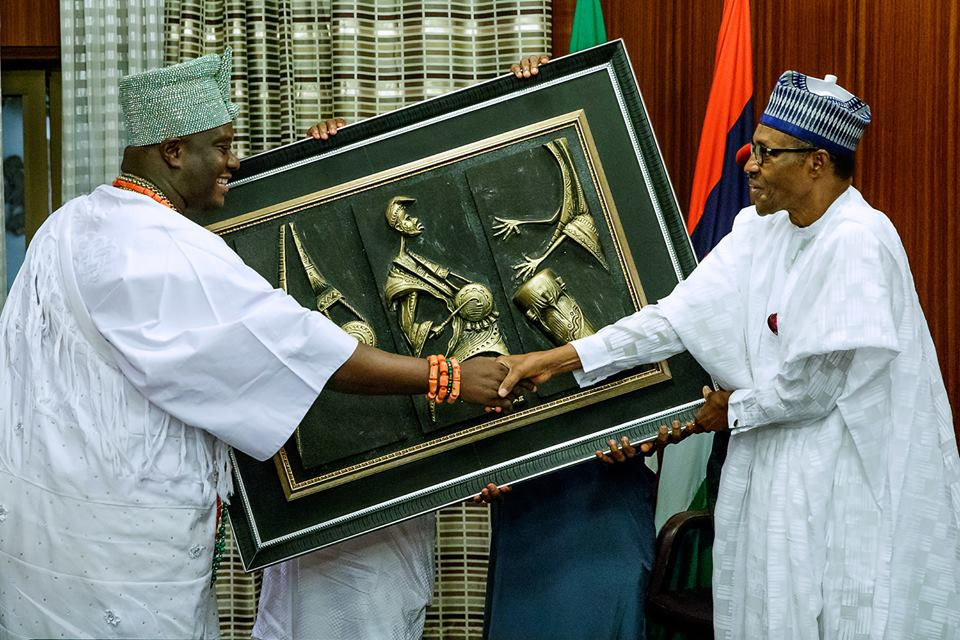 2019: President Buhari receives courtesy visit from Ooni of Ife and other monarchs (photos)