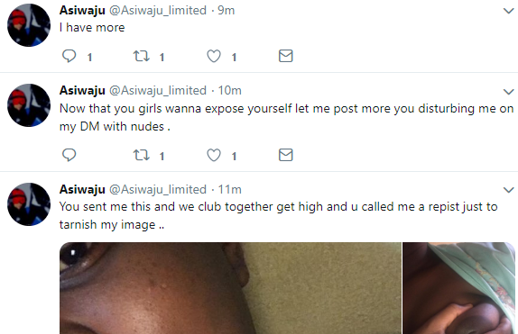 Man accused of being a serial rapist responds, releases nude photos women sent to him via DM and says his mum died this afternoon after reading about the rape accusations