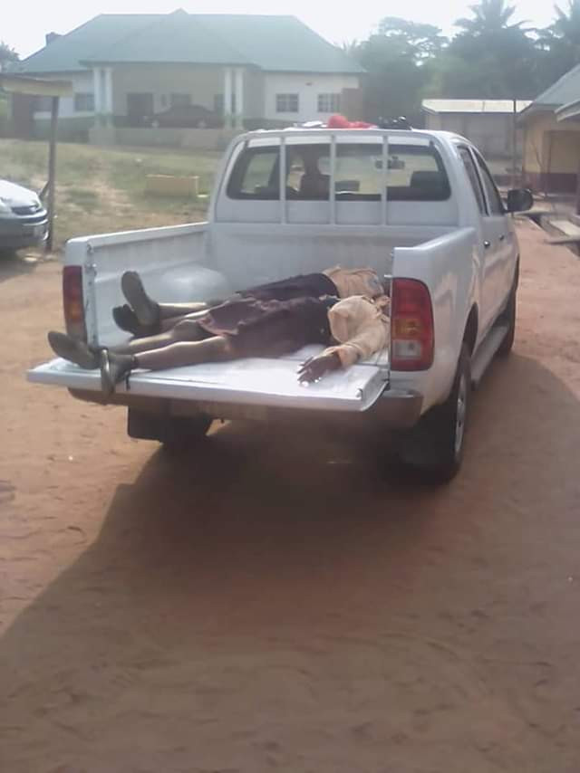 Photos: Reckless driver crushes two secondary school students to death in Anambra